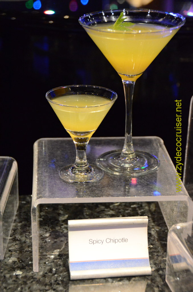 Carnival Cruise, Master The Martini, Mini Martini Tasting, Spicy Chipotle