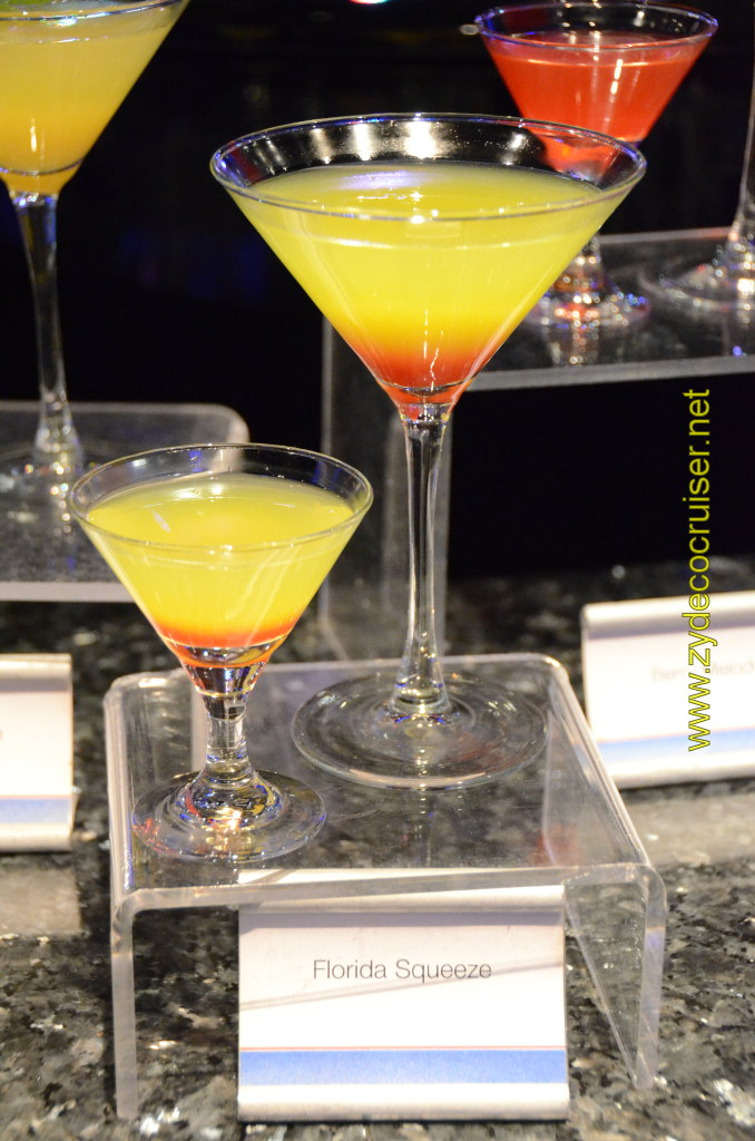 Carnival Cruise, Master The Martini, Mini Martini Tasting, Florida Squeeze