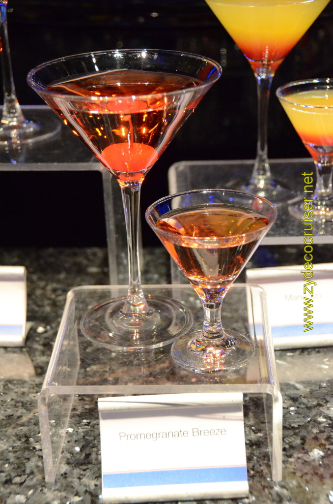 Carnival Cruise, Master The Martini, Mini Martini Tasting, Pomagranate Breeze