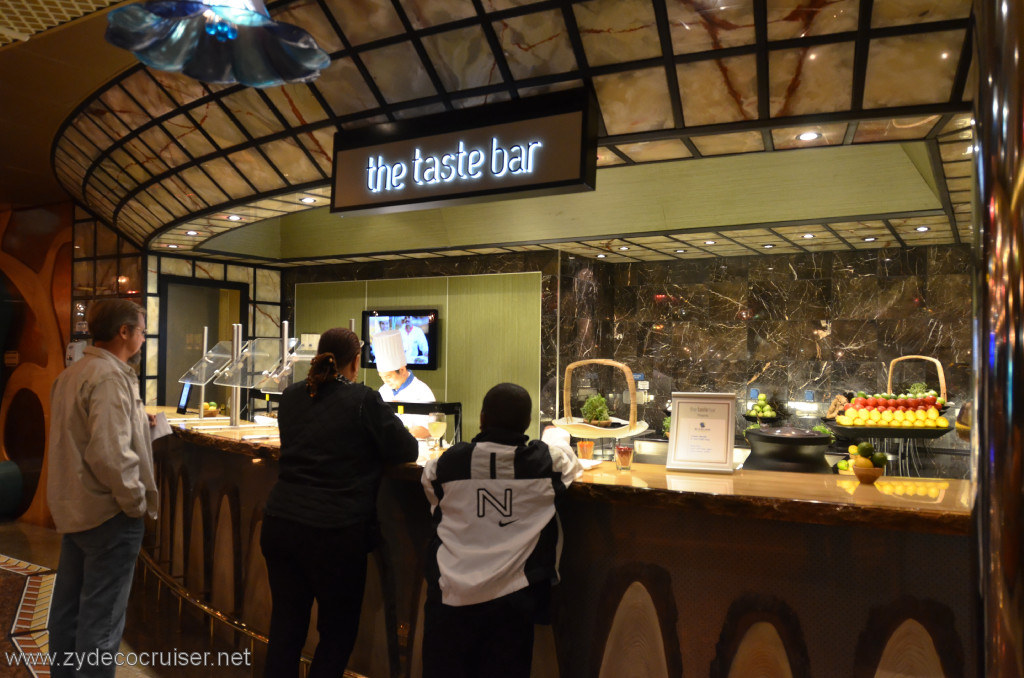 What Is The Quot Taste Bar Quot On The Conquest Cruise Critic