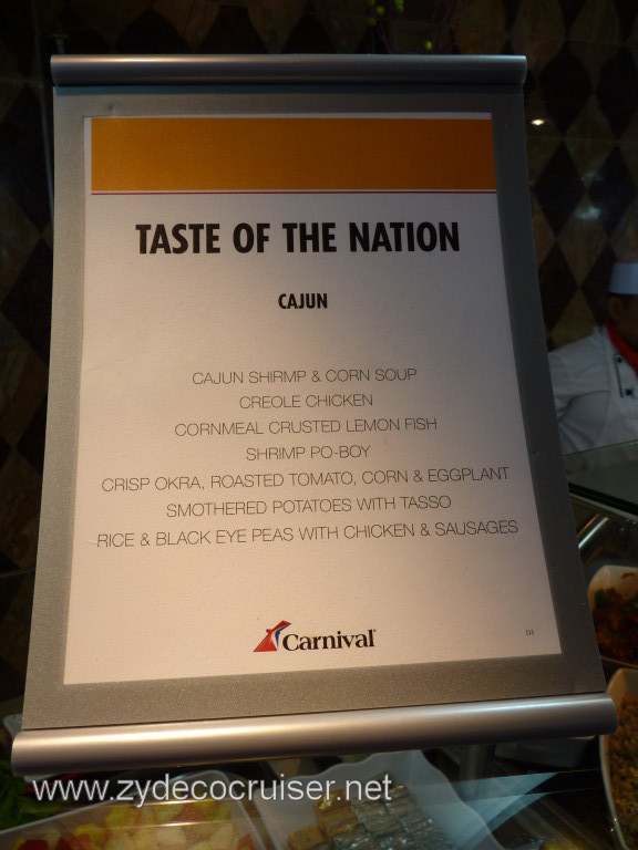 002: Carnival Cruise Lido Lunch, Taste of Nations, Cajun Menu