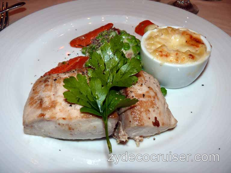 Carnival Dream - Broiled filet of Mahi Mahi (no snapper tonight)
