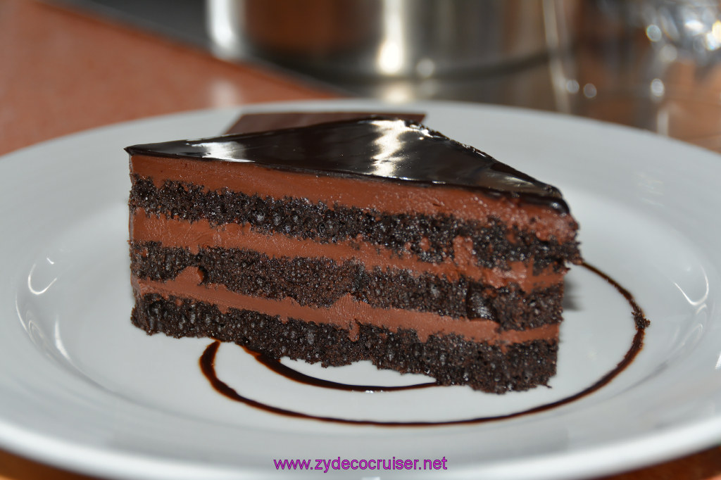 188: Carnival Dream Reposition Cruise, Grand Cayman, Room Service, Chocolate Cake,