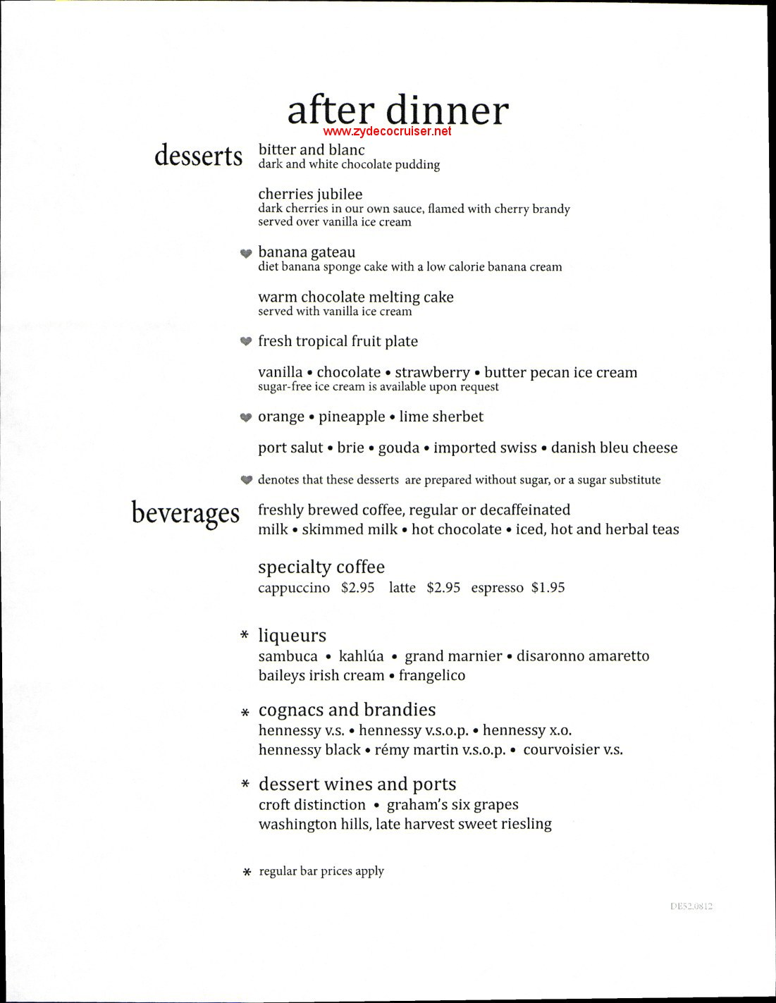 carnival elation 5 day mdr dinner menus food pictures