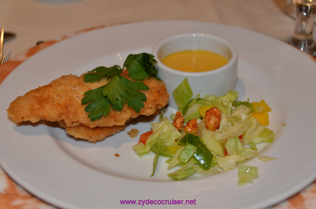Fried Chicken Tenders, Marinated Cucumber and Lettuce