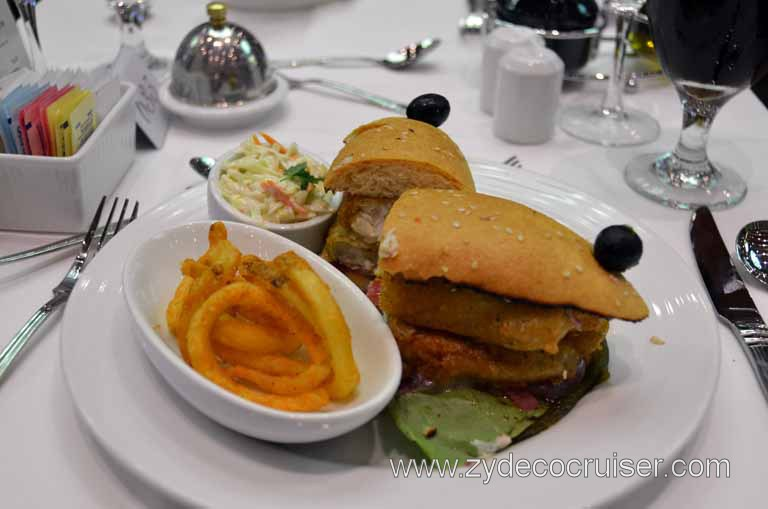 008: Carnival Magic, Main Dining Room Menus and Food Pictures, Lunch, Beer Battered Fish Sandwich,