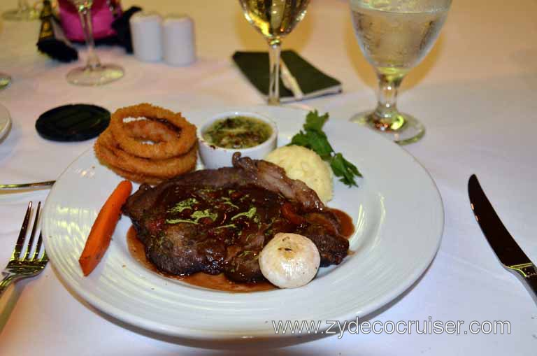 Main Dining Room Menus and Food Pictures, Dinner, Grilled Ribeye Steak Tyrolienne