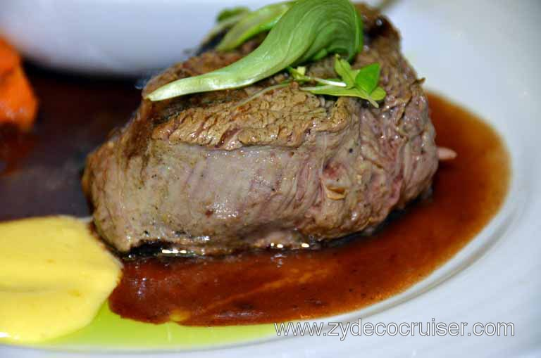 044: Carnival Magic, Main Dining Room Menus and Food Pictures, Dinner, Filet Mignon Carnival,