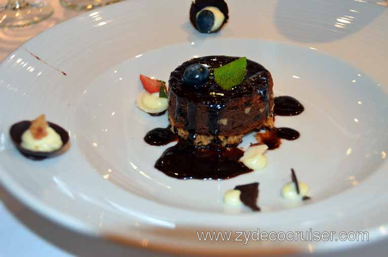014: Carnival Magic, Main Dining Room Menus and Food Pictures, Lunch, Chocolate Brownie Melting Tart,