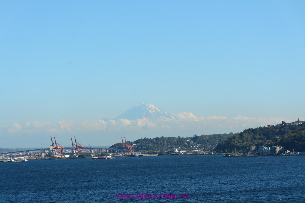 146 Carnival Miracle Alaska Cruise Seattle Embarkation Mount Rainier