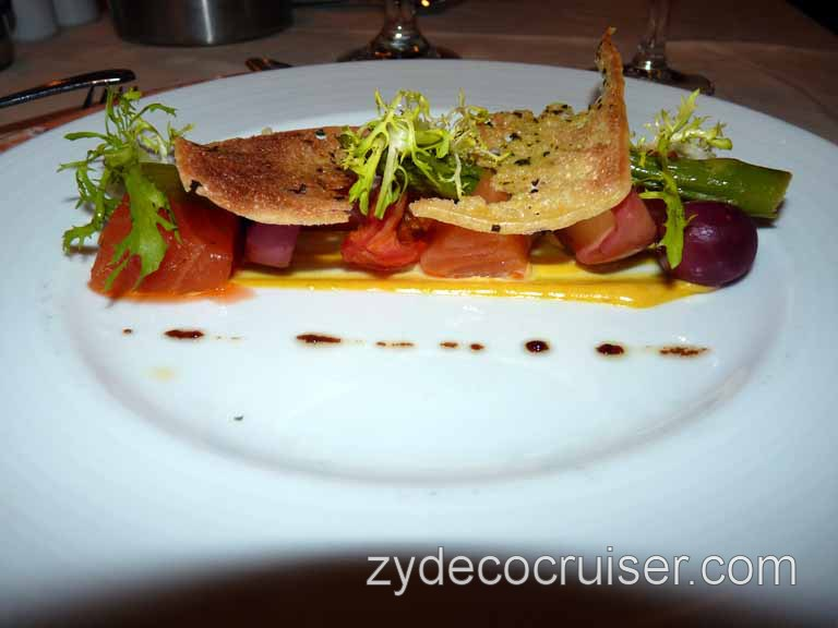 840: Carnival Sensation - Cured Salmon and Candied Tomato