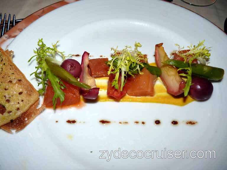 843: Carnival Sensation - Cured Salmon and Candied Tomato