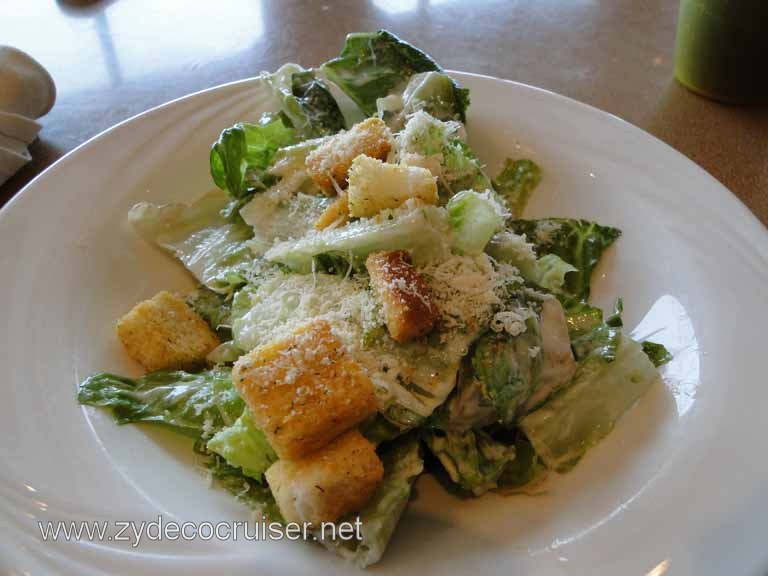 085: Carnival Spirit, Inside Passage, Caesar Salad from the Pizzeria