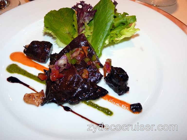 606: Carnival Spirit, Honolulu, Hawaii, Grilled Portobello Mushroom and Handpicked Mesclun Letuce