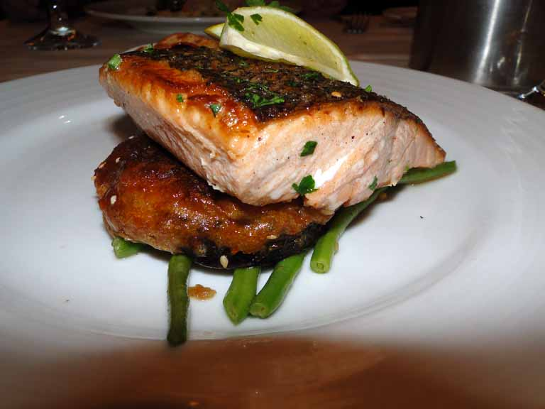 252: Carnival Spirit, Kahului, Maui, Day 2, Grilled Fillet of Norwegian Fjord Salmon