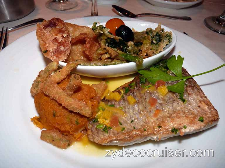 079: Carnival Spirit, Sea Day 4 - Pan Fried Fillet of Red Snapper
