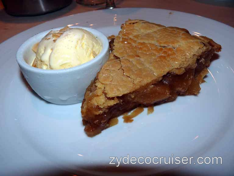 080: Carnival Spirit, Sea Day 4 - Old Fashioned Apple Pie (warm) with Vanilla Ice Cream