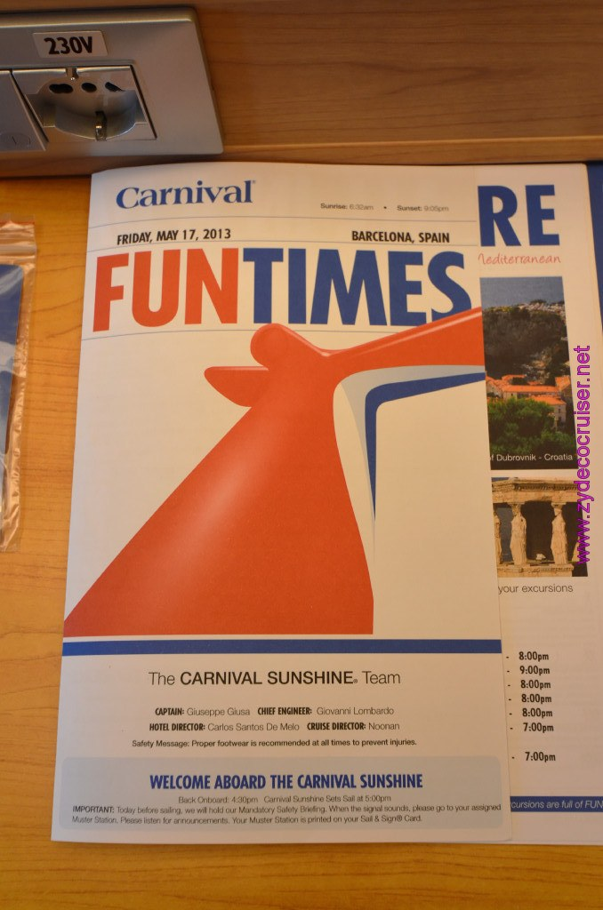 023 Carnival Sunshine Cruise Barcelona Embarkation Fun
