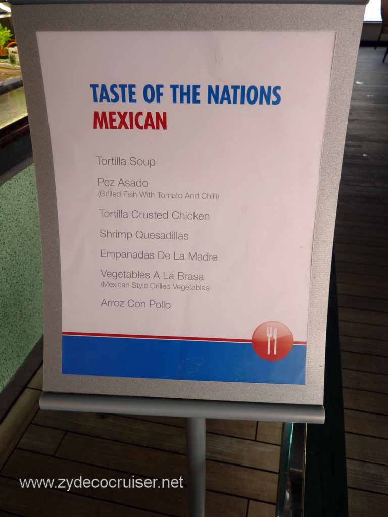 009: Carnival Cruise Lido Lunch, Taste of Nations, Mexican Menu
