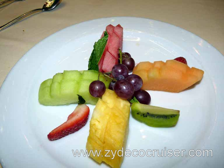 065: Carnival Triumph, Fun Day at Sea and Elegant Night, Fresh Tropical Fruit Plate
