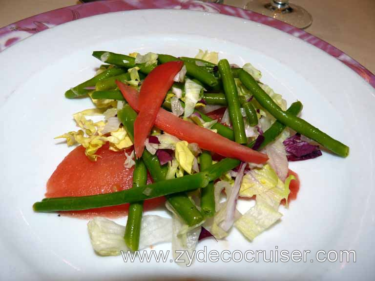 086: Carnival Triumph, Sea Day 2 - Green Bean and Roma Tomatoes