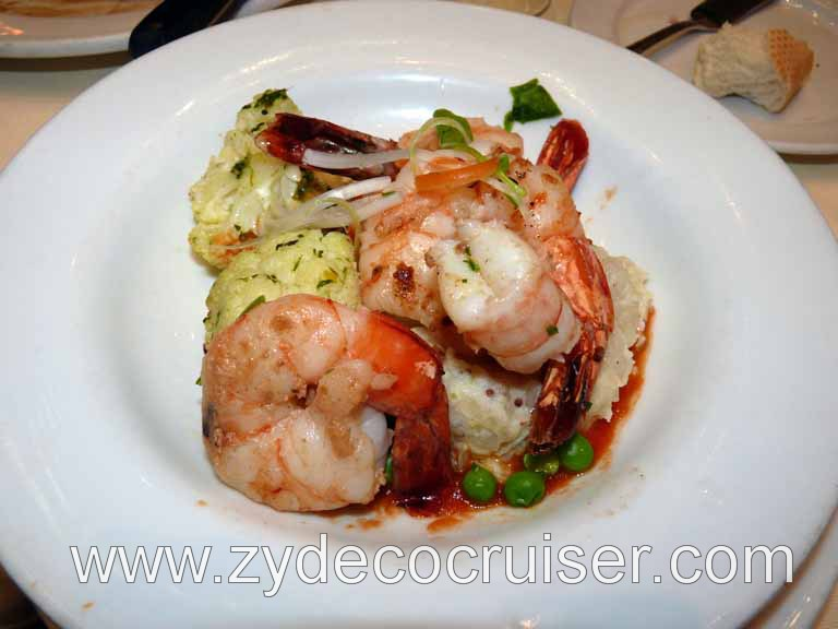090: Carnival Triumph, Sea Day 2, Grilled Jumbo Tiger Shrimps - Wonderful