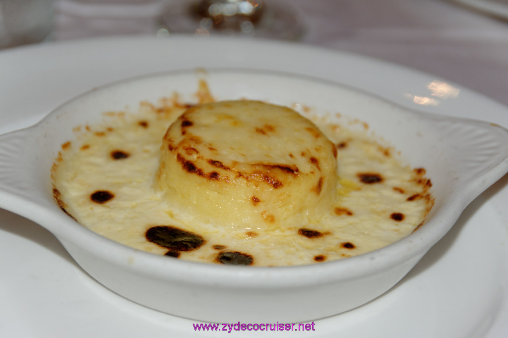 062: Emerald Princess Cruise, MDR Dinner, Twice Baked Goat's Cheese Soufflé,