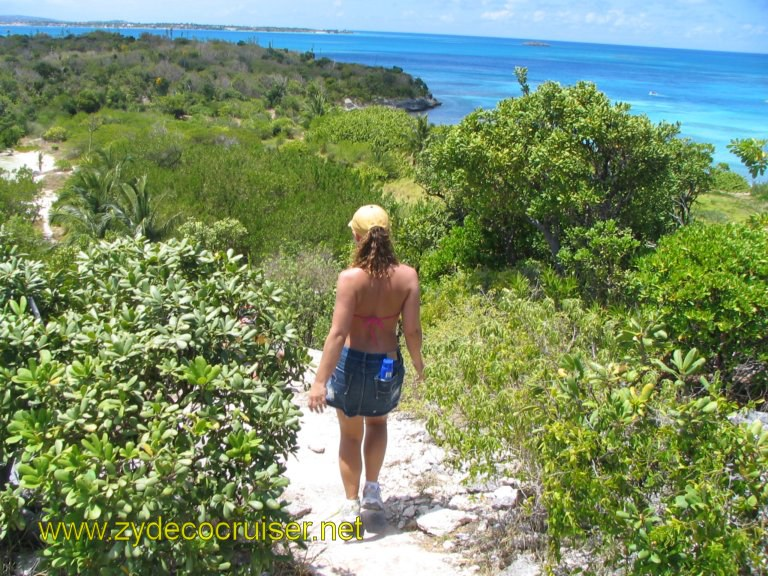 053: Carnival Liberty, Eli's Adventure Antigua Eco Tour, Pepper (Gatorclaw's (now ex) GF) headed back down..