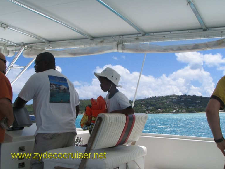 "004: Carnival Liberty, Eli's Adventure Antigua Eco Tour, The Captain and ""Co-captain"" Reef."