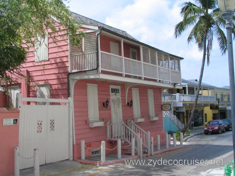 Balcony House, Nassau, Bahamas. The oldest wooden residence still standing in Nassau