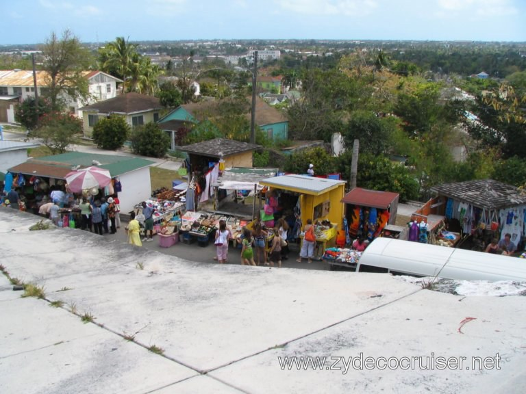 Vendors around Fort Fincastle, Nassau, Bahamas