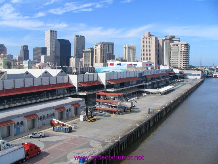 New Orleans, Erato Street Cruise Terminal, Riverwalk Mall and Downtown New Orleans