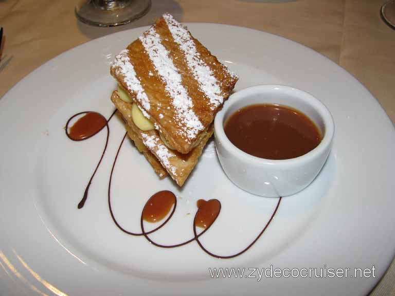 Caramelized Apples on Puff Pastry, Carnival Splendor