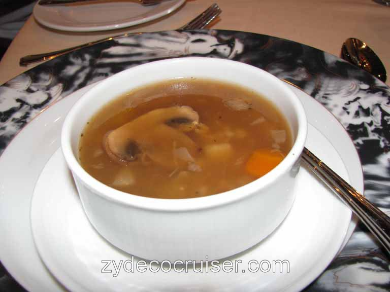 Beef and Barley Soup, Carnival Splendor