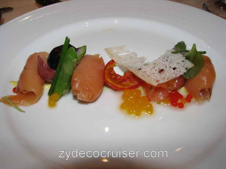 Cured Salmon and Candied Tomato, Carnival Splendor