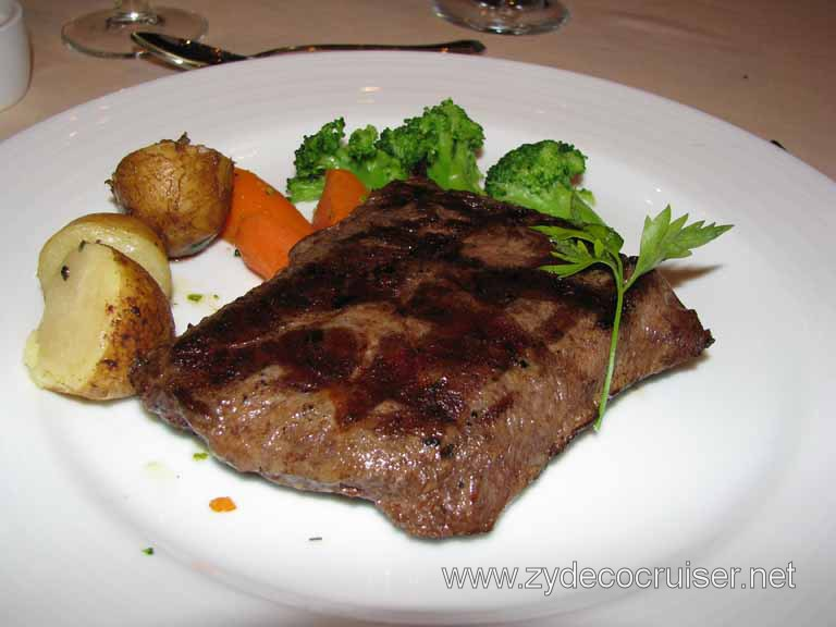 Grilled Flat Iron Steak, Carnival Splendor