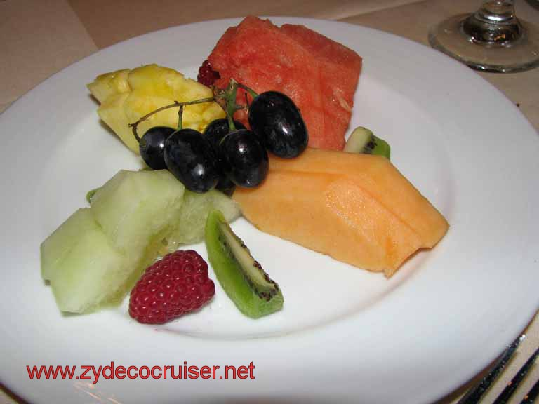 Fresh Tropical Fruit Plate, Carnival Splendor