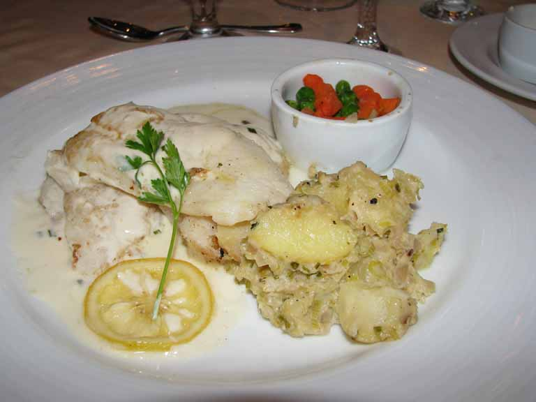 Lemon Confit Topped Grouper, Carnival Splendor
