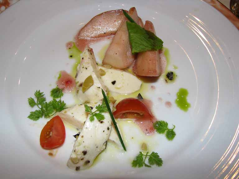Pear and Buffalo Mozzarella Salad, Carnival Splendor