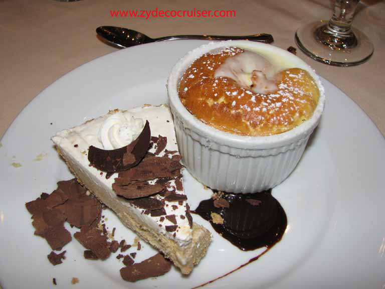 Cappuccino Pie and Grand Marnier Souffl� , Carnival Splendor