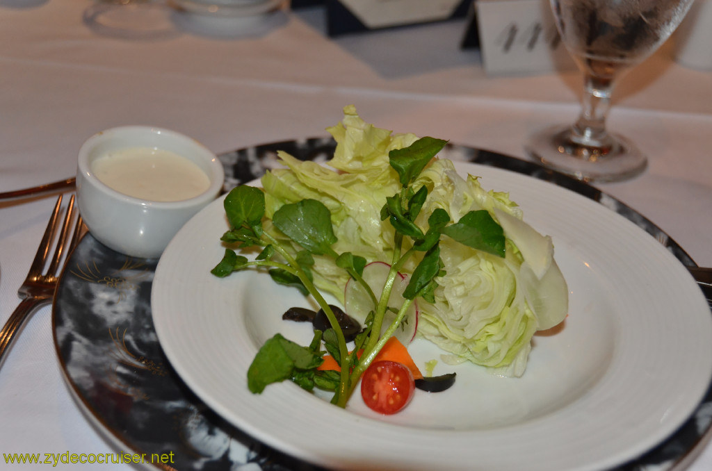 Carnival Conquest, New Orleans, Embarkation, MDR Dinner