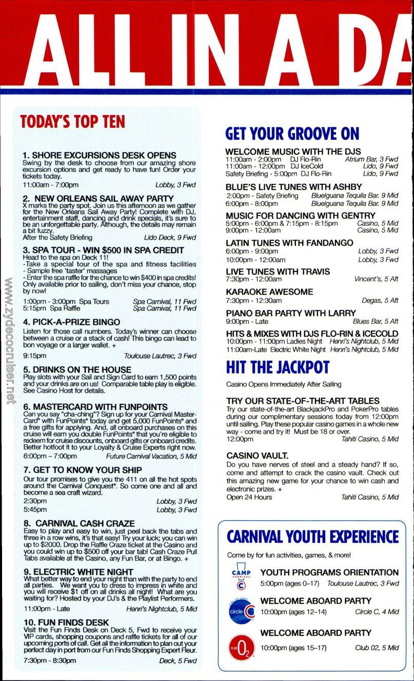 carnival conquest fun times april 21 2013 page 2