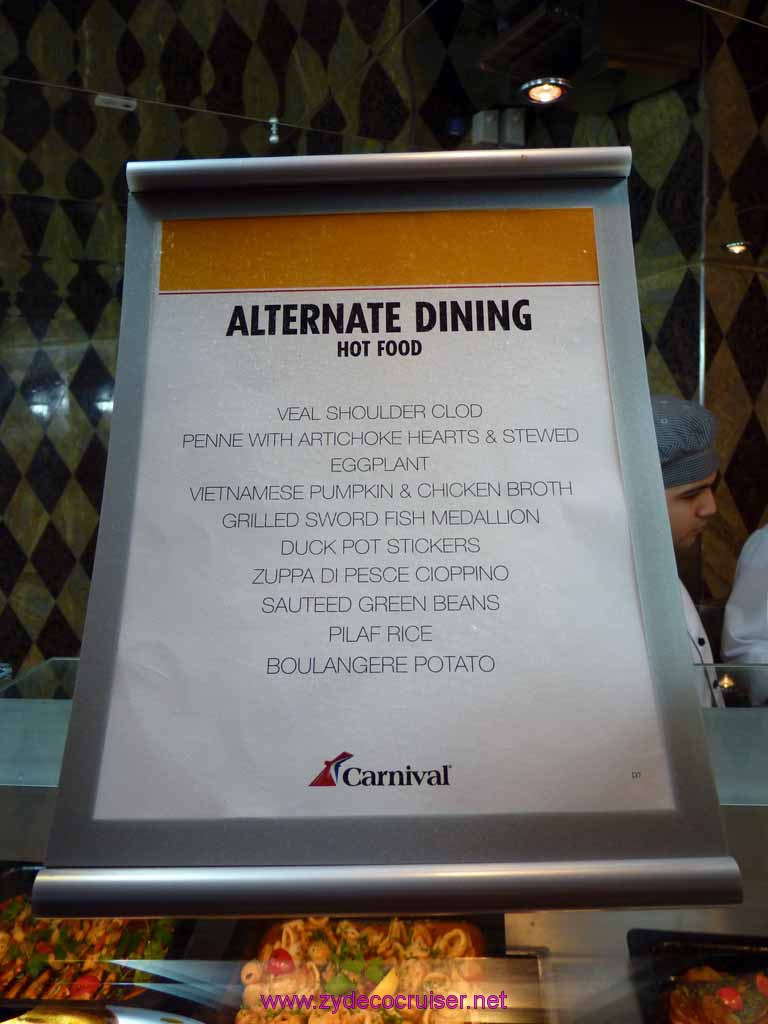 5061 Carnival Dream Mediterranean Cruise Lido Dinner Buffet
