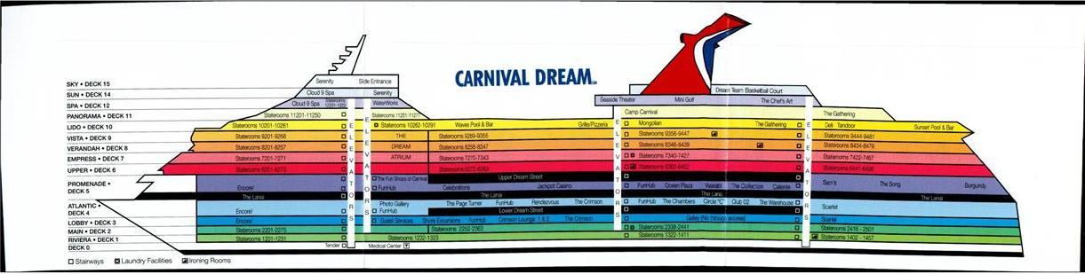 Carnival Dream Deck Plan A