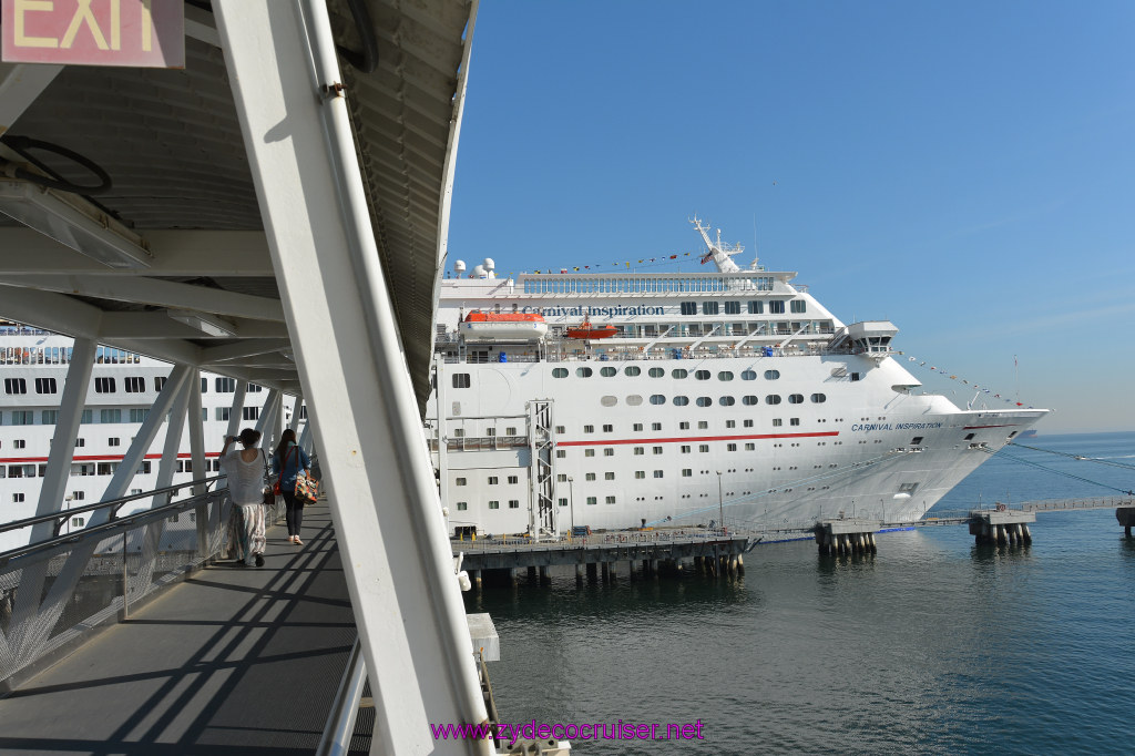 005 Carnival Inspiration 4 Day Cruise Long Beach Embarkation Gangway To The