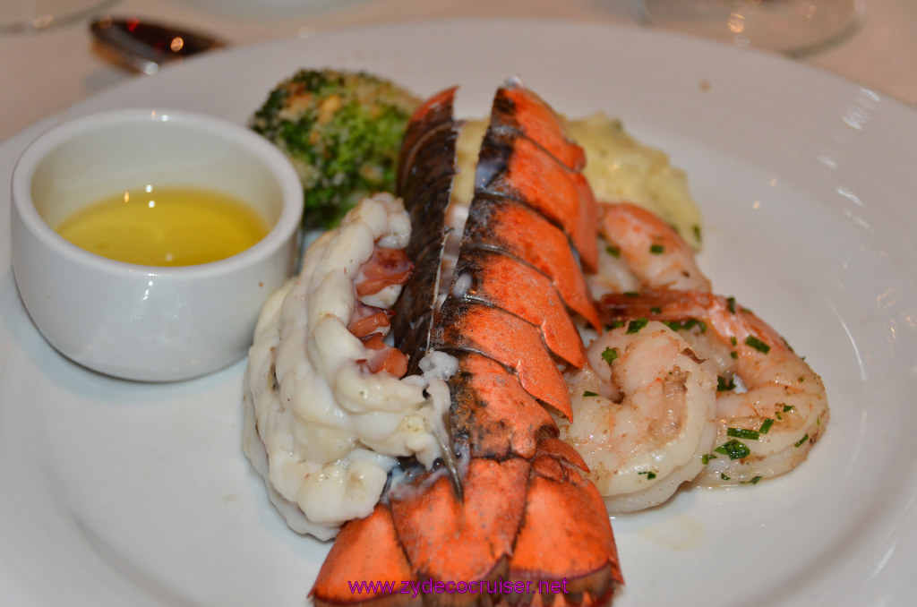 Broiled Maine Lobster Tail and Jumbo Black Tiger Shrimps