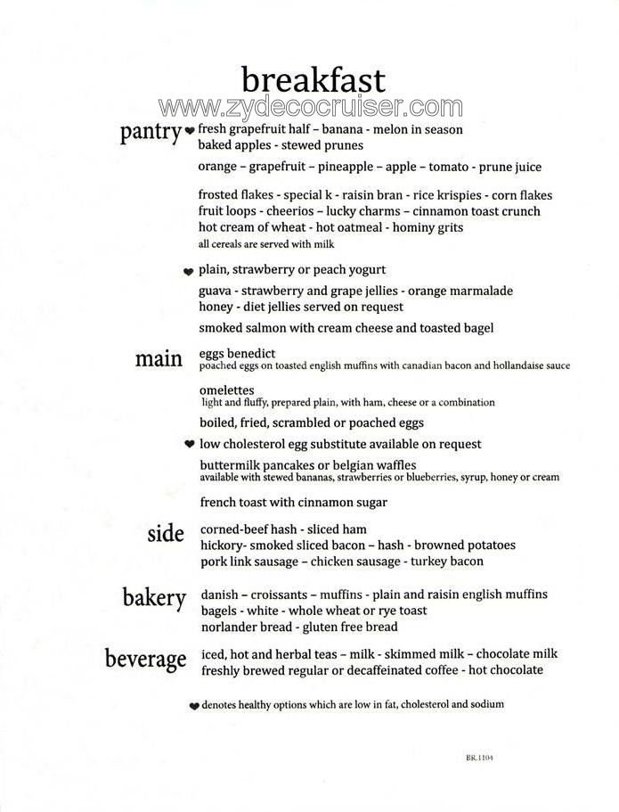 Carnival Cruise Main Dining Room Menu Room Image and  : break1 from www.lautadiaries.com size 695 x 911 jpeg 95kB