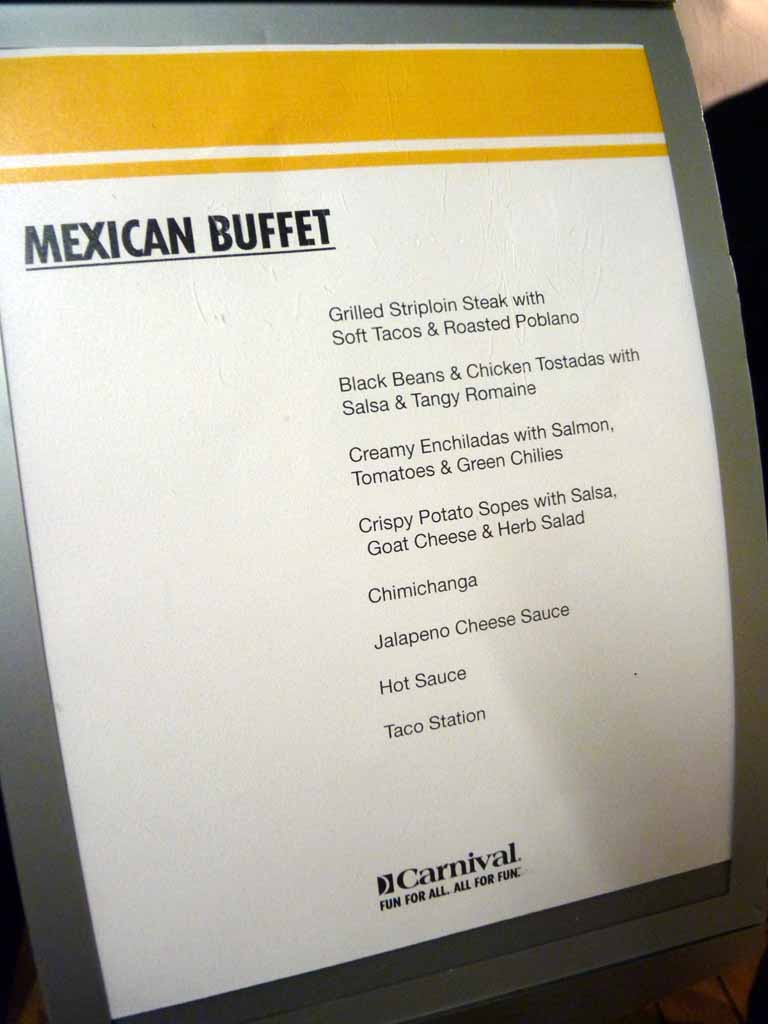 Mexican Deck Party Buffet