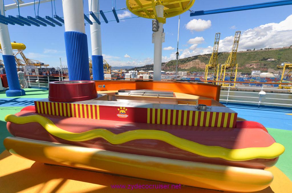 122 Carnival Sunshine Cruise Barcelona Embarkation Sea