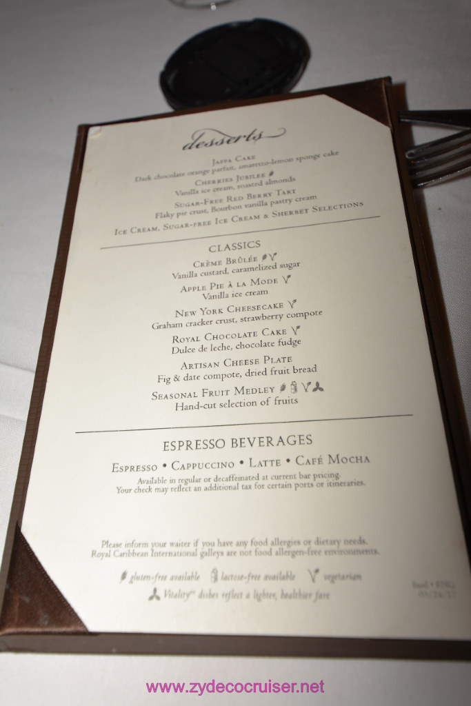 Royal Caribbean Vision Of The Seas Aquarius Dining Room